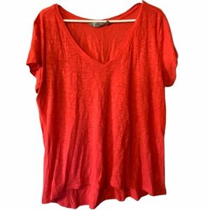 Athleta red burnout daily tee size XL #105408